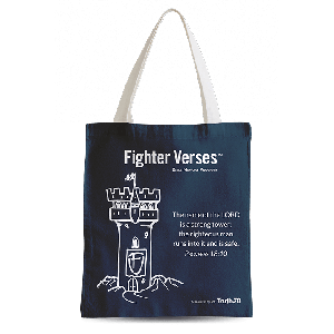 Fighter Verses Tote Bag