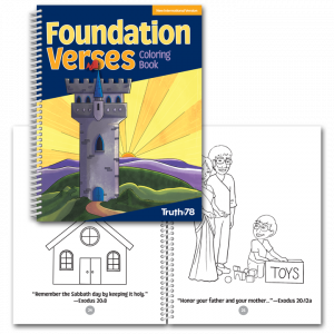 Foundation Verses: Coloring Book NIV