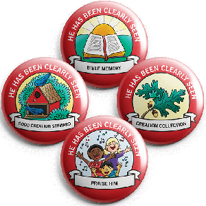 He Has Been Clearly Seen: Student Buttons (5 sets)