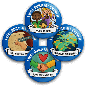 I Will Build My Church: Student Buttons (5 sets)