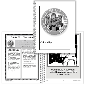 He Established A Testimony:  Student Coloring Book - Original