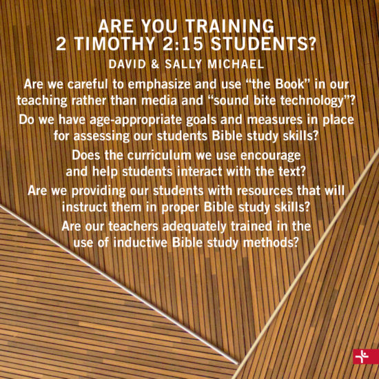 Are You Training 2 Timothy 2:15 Student?