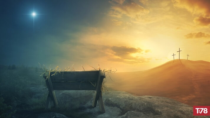 The Manger, the Cross, and the Throne