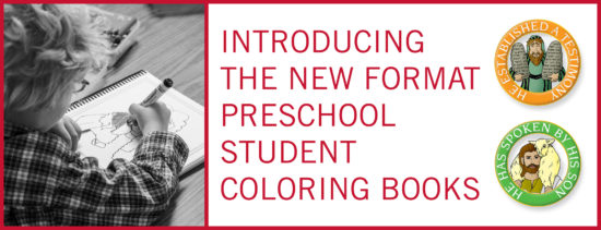 Children Desiring God Blog // Introducing the New Format Preschool Student Coloring Books