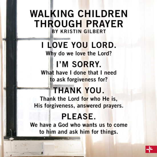 Walking Children Through Prayer