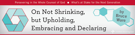 On Not Shrinking, but Upholding, Embracing and Declaring