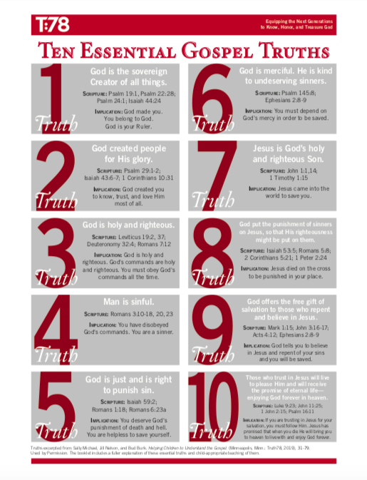 10 Essential Gospel Truths handout